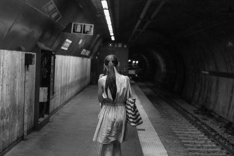 Rome, Italy Walking Around Walking Around The City  Tube Station  Underground Subway Blackandwhite Bnw Streetphotography Metro Blackandwhitestreetphotography B&w Street Photography Urban Cinematic
