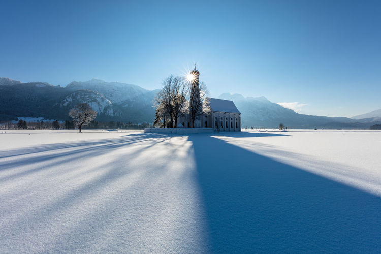 st. coloman is a baroque church in Schwangau, Bavaria, Architecture Church Kirche Place Of Worship St. Coloman Travel Winter Zwiebelturm Barock Baroque Beauty In Nature Building Exterior Built Structure Cold Day Culture Day Mountain Place Of Interest Schwangau Snow Travel Destinations