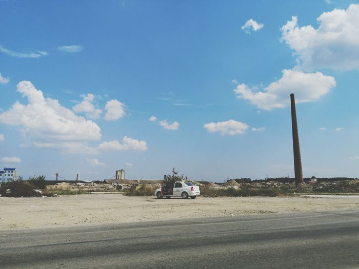 Desert Road Sand Blue Sand Dune Car Heat - Temperature Arid Climate Sunny Sky
