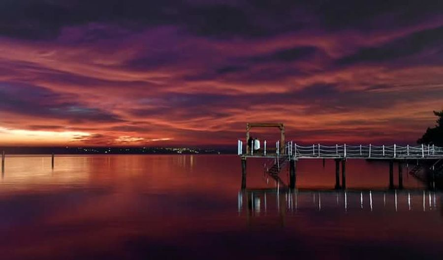 Reflection Sunset Water Sea No People Cloud - Sky Outdoors Sky Beauty In Nature Horizon Over Water Beach Nature Scenics Harbor Night