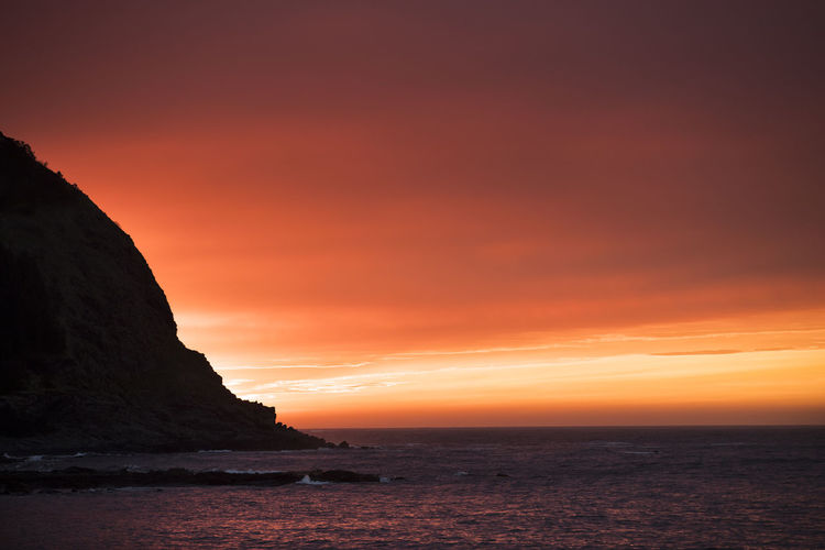 Sunset at Runde island in West Coast of Norway. Maritime Orange Orange Sky Red Beauty In Nature Horizon Over Water Maritime Photography Nature No People Orange Color Outdoors Red Color Scenics Sea Sky Sunset Tranquil Scene Tranquility Water