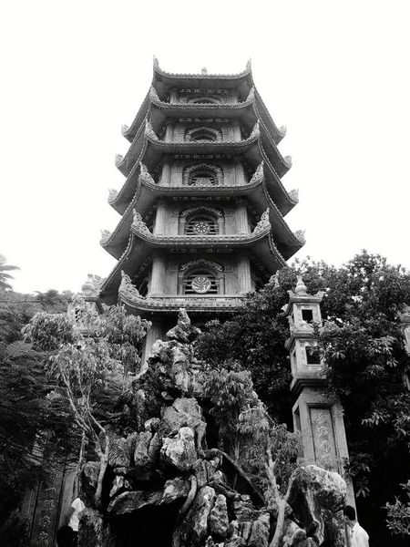 Pagoda Religion Architecture Spirituality Travel Destinations Place Of Worship Ancient History Low Angle View Travel Vietnamphotography Travel Photography World Travel Vietnam Black & White Photography