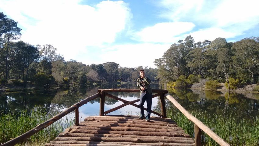Tree Railing Sky Nature Outdoors Vacations Horizontal Day River Water Bridge - Man Made Structure No People Beauty In Nature