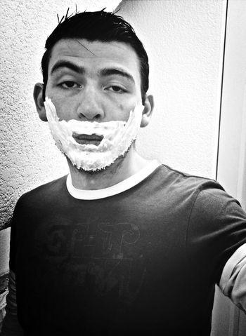 Santa Claus apático. That's Me Navidad Santa Claus Blackandwhite
