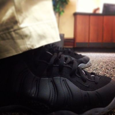 Keep Calm I'm Rockin' Black Stealth Foams Today! FoamNation Igsneakercommunity Swooshhead Kickstagram heatalert nike kotd Penny solecollector heatonmyfeet sneakernews