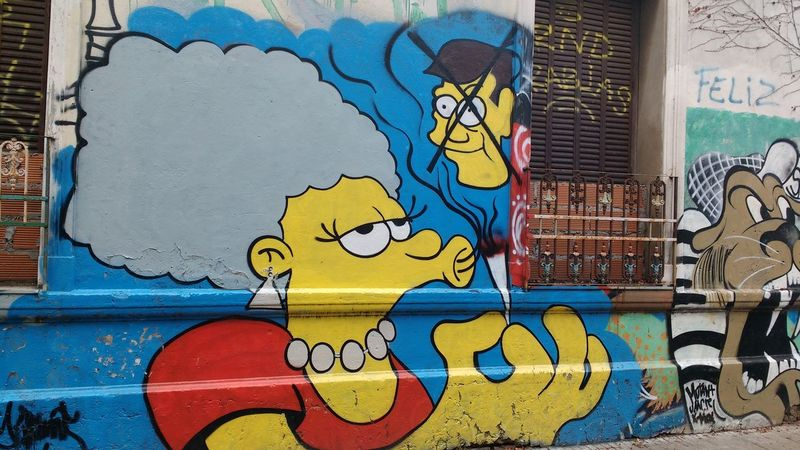 Graffiti The Simpsons Street Art Streetphotography Street Photography Street EyeEm Gallery Argentina Photography Buenos Aires Light And Shadow Check This Out Art In The Streets Eyeem Colors Popular Photos