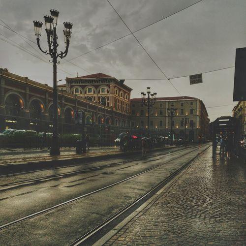 Waiting the bus Transportation Autobus Bus Empty Travel Torino Rain Weather