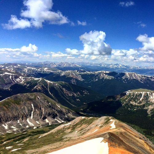 The view from the top of Grays Peak, elevation 14,278′ 14er 14ers Beauty In Nature Colorado Elevation Grays Peak Hiking Mountain Mountains Nature Outdoors Peak Peak Bagging Rocky Mountains Summit Summit View