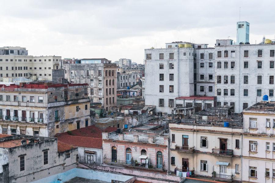 Havana Rooftops Architecture Building Exterior Built Structure Caribbean City Day Havana Havana Cuba No People Old Buildings Outdoors Rooftops Sky Skyline Worn
