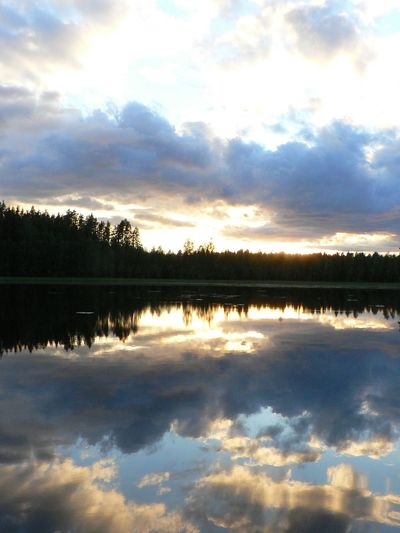 One piece of home. Sunset_collection Pond Water Reflections Sky And Clouds Peace Of Mind Good Energies