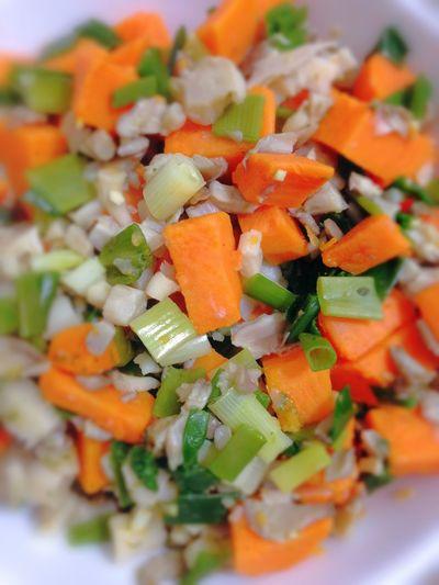 Sweet Potatoes Oyster Mushrooms Green Onion Vegetables Vegan Food Vegetarian Food 365 Photos In 2015 Healthy Food Dinner
