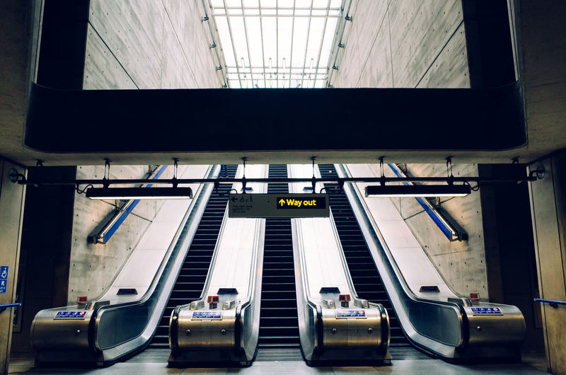 View Of Escalators