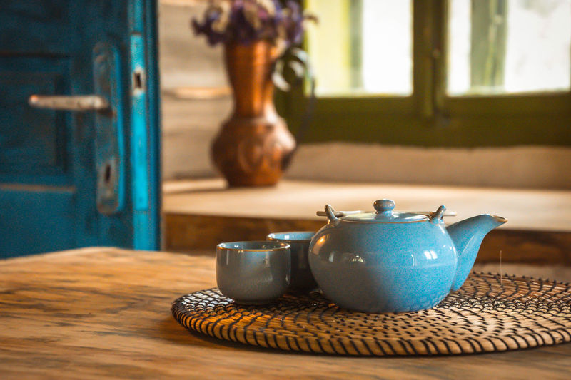 Bleu tea decoration