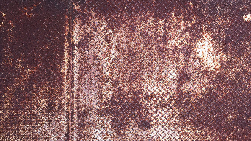 Rusty Diamond Plate Texture Background Construction Industrial Backgrounds Checkered Plate Close-up Day Diamond Plate Engineering Full Frame No People Outdoors Pattern Rusty Textured