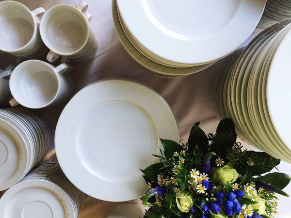 Buffet Wedding Tableware Dinnerware  Plates Dishes Bouquet