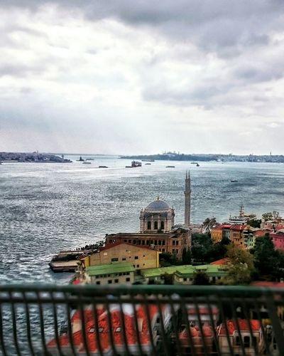 Bosphorus Istanbul City Ortaköy Mosque Ortaköycamii Maidenstower Boğaz Köprüsü Goldenhorn Fall Cloudy