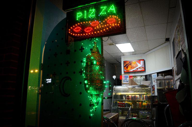 City Neon Illuminated Nightlife Architecture Green Color Street Light Green Light
