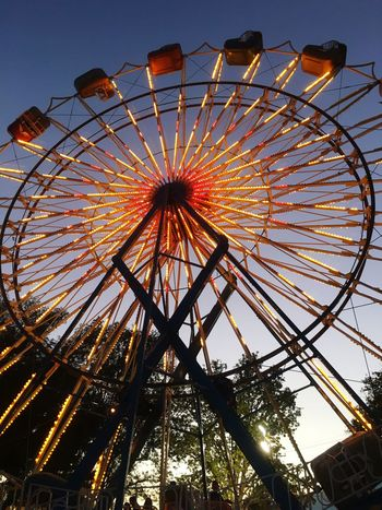 Lights Sunset. Sunset Lights At The Fair Beautiful Day Ferris Wheel Living Free
