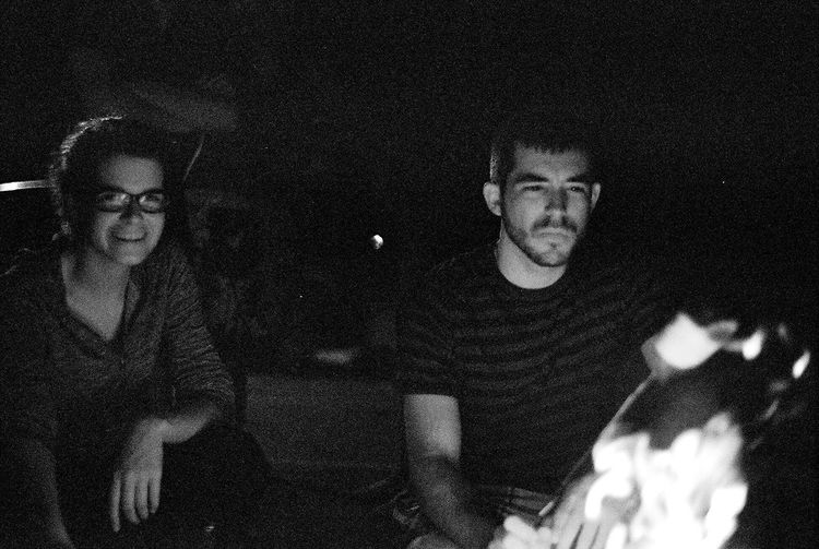 -Aria and Brandon- Silhouette Olympus Analog Real People Night One Person High Angle View Lifestyles Outdoors Nature Portrait The Portraitist - 2018 EyeEm Awards
