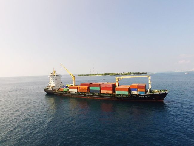 Dji Djiphotography Phantom3 Phantom3pro 4kphoto Water Transportation Sea Sky Horizon Over Water Outdoors No People Day Clear Sky Nautical Vessel Nature Container Ship Maldives