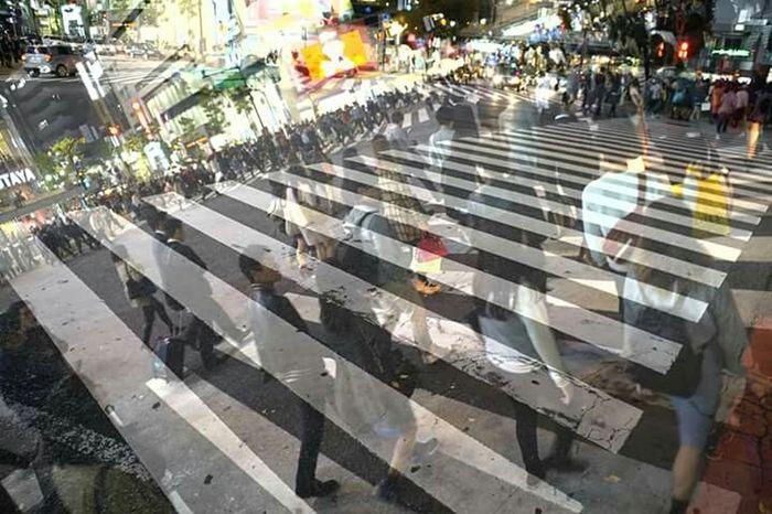 Sony SonyA7s α-7s Applicationphoto 多重露光 Multiple Exposures 渋谷スクランブル交差点 Scramble Crossing アプリケーションの試し撮り