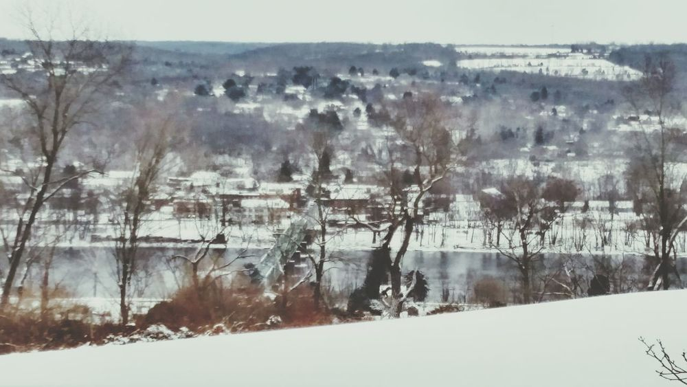 How's The Weather Today? Another winter day in uhlerstown view of frenchtown nj