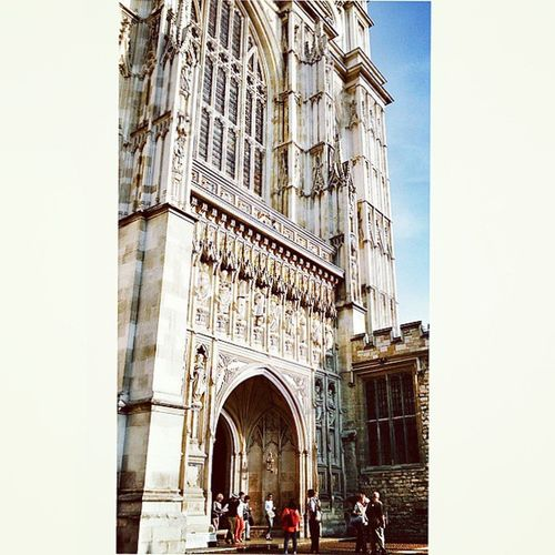 In queue for evensong at Westminster Abbey Westminster abbeyExterior Peoplewatch Church religion