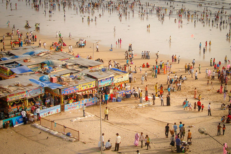 Juhu Beach on a regular afternoon India Adult Architecture Beach Crowd Day Group Of People High Angle View Land Large Group Of People Leisure Activity Lifestyles Men Nature Outdoors Real People Sand Tourism Tourist Travel Destinations Women