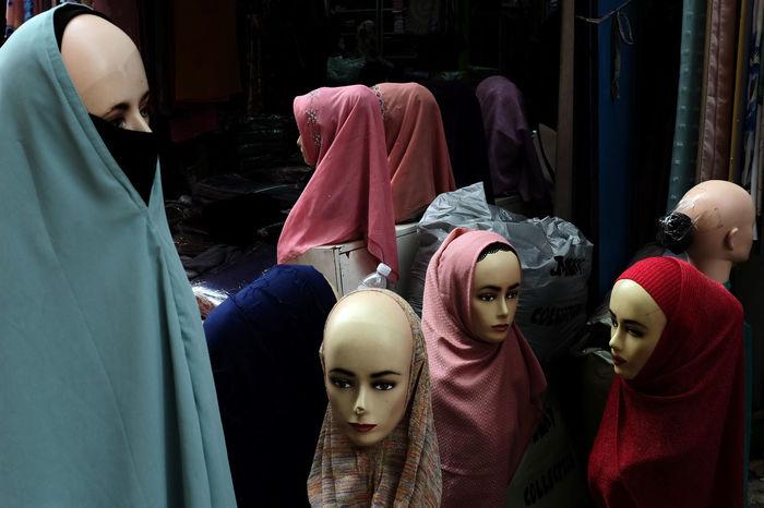 Day Headwear Islam Mannequin Muslimahfashion Muslim❤️ No People Shawls Still Life Streetphotography Textile