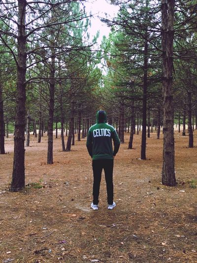 Forest Tree Nature Rear View Full Length One Person People Adult Adults Only Outdoors Day Community Outreach
