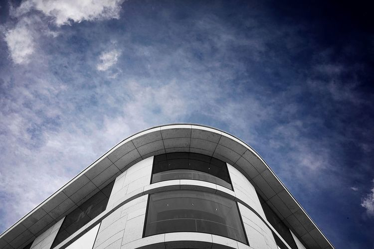 Sky Low Angle View Architecture Built Structure Cloud - Sky Building Exterior Day Nature Tower Outdoors Building Sunlight Tall - High City Modern Blue Industry Factory No People