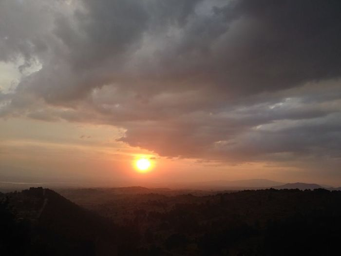 Sunset Sky Silhouette Sun Cloud - Sky No People Nature Beauty In Nature Scenics Mountain Day