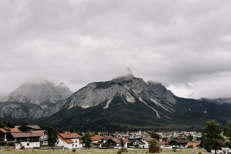 Townscape by mountain