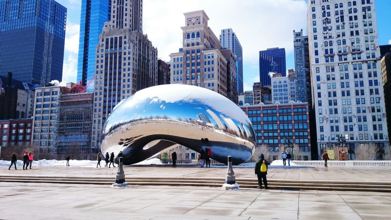 Chicago Architecture Chicago Beans Silver  Bigcitylife Wintertime Socolddddd Freezing ❄