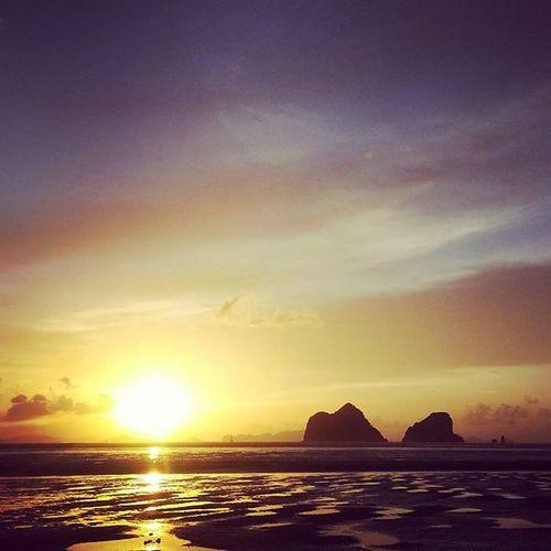 ตะวันลับฟ้า ณ ราชมงคล ตรัง Ratchamongkolbeach Sunset Beach Trang thailand