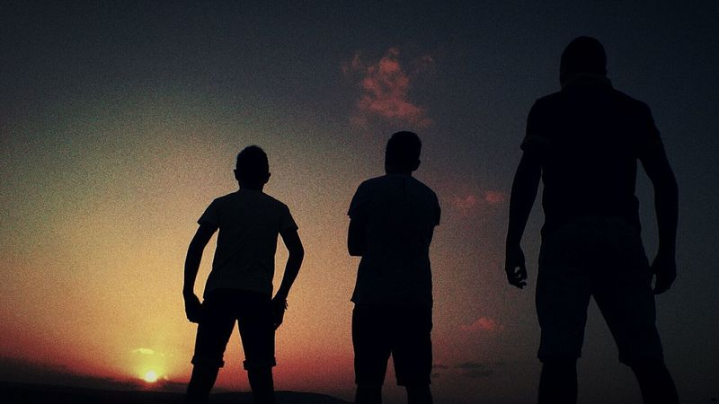 Boys Guys My Friends With Me Shadows Silhouette Taking Photos Hanging Out My Cousin Friendship Like Brothers Sunset Sunset Silhouettes Orange Sky That's Me Getting Inspired Today's Hot Look Skyporn Sky Color Portrait My Photography Enjoying Life Unique Together This Is US