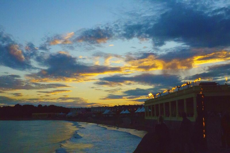 Isle Of Fire Barryisland Barry Eastern Shelter Sunset