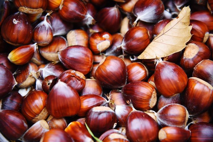 Full Frame Shot Of Chestnuts