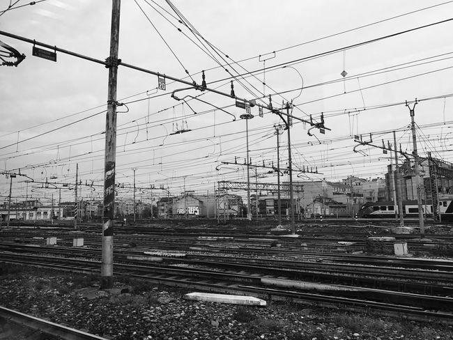 Railroad Track Rail Transportation Cable Transportation Sky Public Transportation No People Electricity Pylon Day Outdoors
