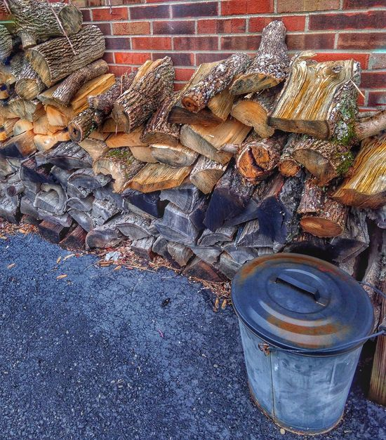 Showing Imperfection Wood Pile Firewood