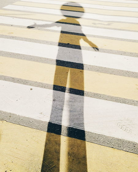 Full frame shot of yellow road