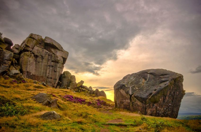 Cow and Calf Rocks, Ilkley, West Yorkshire, UK. Rocks Weather Sky Clouds Golden Hour Yorkshire Outdoors Countryside Landscape Nature