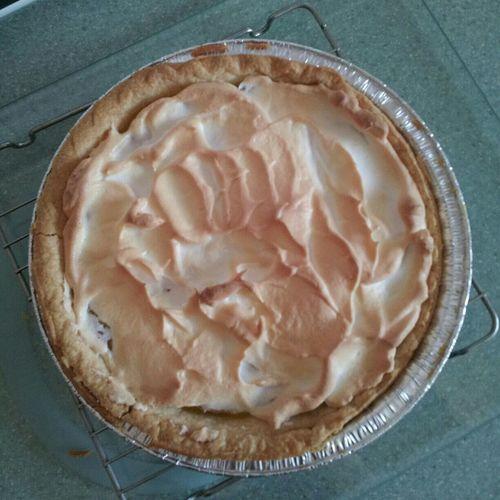 The pie is done! Lemon Meringue Pie , Homemade Lemon Pie Yum!