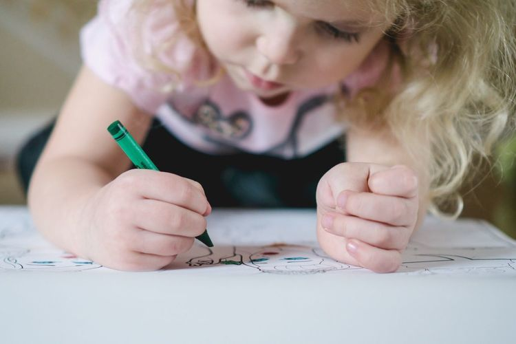 Art - Selective Focus Person Child Art Drawing Coloring Girl Holding Creativity Human Finger Innocence Fragility School