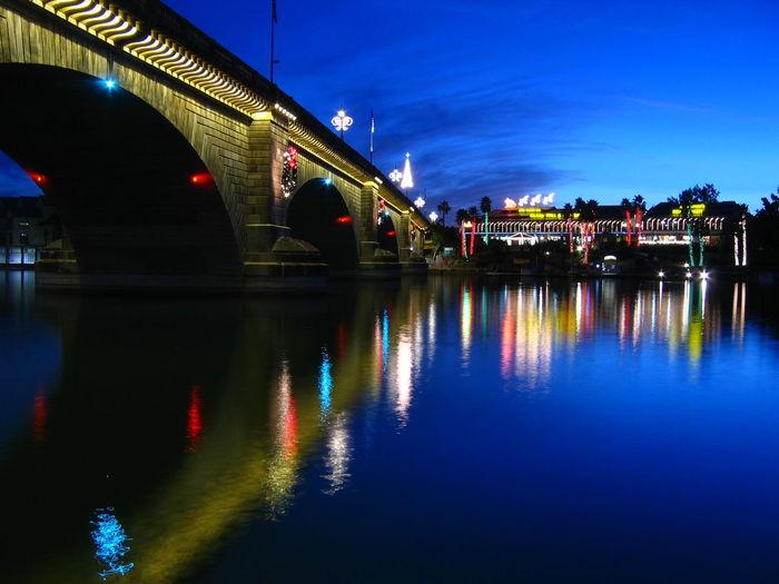London Bridge Architecture Bridge - Man Made Structure Built Structure Illuminated Night No People Reflection Water