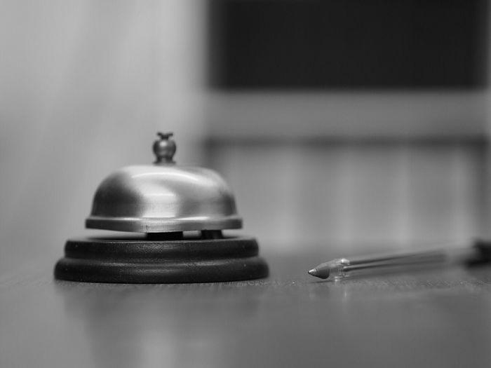 Bell and biro. Bell Biro Pen Reception Reception Area Reception Desk Blackandwhite Black And White Desk