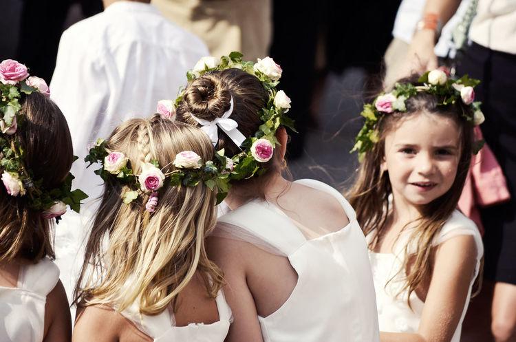 Bridesmaid Children Crown Flower Dress Flowers Photography Wedding Weddingday