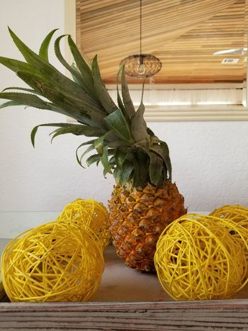 uncentered piece Pineapple Interior Design Yellow Close-up Plant Botany