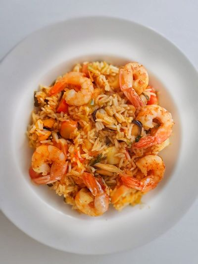 Visual Feast Food And Drink Food Healthy Eating Ready-to-eat No People Indoors  Freshness Close-up Day Shrimps Rice Mussels