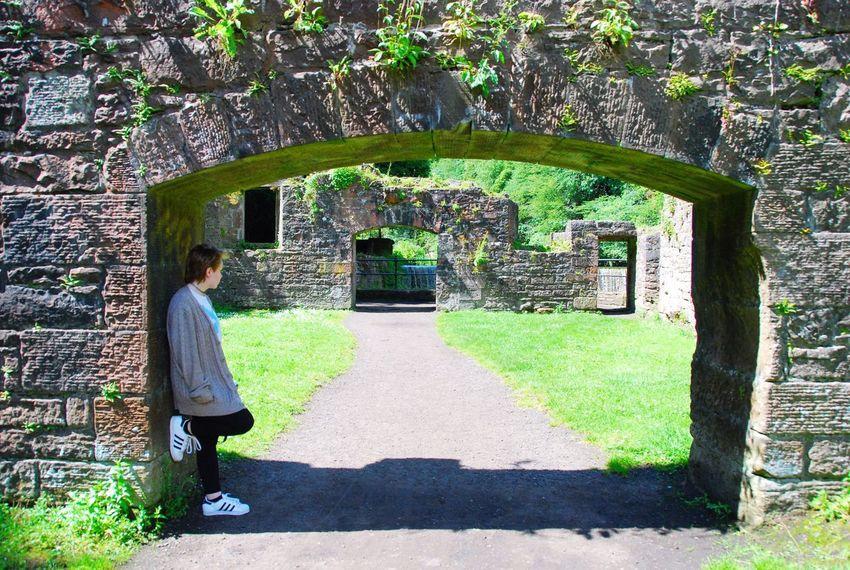 Cramond Edinburgh Scotland One Woman Only Built Structure Shadow Nature